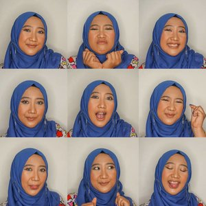 It's almost weekend! Tell me what are you ready for the weekend? 🤩😎🥂.#9x9 #9x9me #9grid #ClozetteID #selfie #hijab #facialexpressions #readyfortheweekend