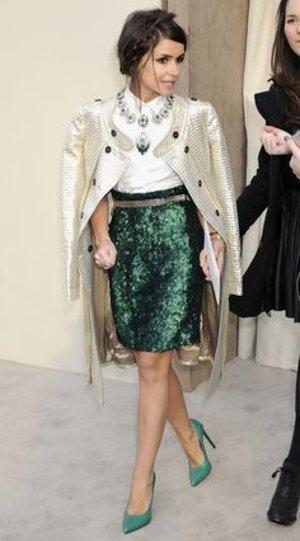 Burberry <3 Love that emerald green sequin skirt <3 <3