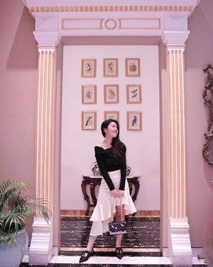 Look good, feel good.✨ - Got tons of compliment because of my asymmetrical skirt from @sukithelabel via @loveandflair. ❤️ #loveandflairootd #itsElvinaaOOTD #clozetteid #clozette