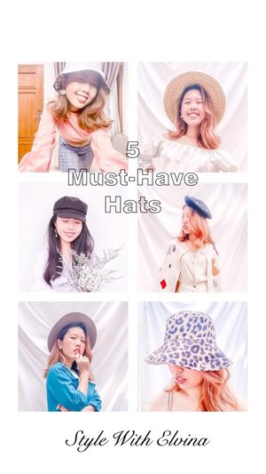 I'm that person who's always love to wear hats! They're easy, stylish and effortless for your outfit. Just like a cherry on top of your favorite sundaes 🍒. In this video, I'm listing my top 5 hat that are definitely a must have. I'm also change the format around for this episode.  Honestly this video is taking such a long time to put up. Hopefully you guys like the results! #StyleWithElvina #itselvinaaootd #theshonetinsider #clozetteid