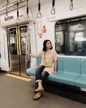 Finally we taste the new MRT in the city!- #clozetteid#celliswearing#ggrep#mrtjakarta