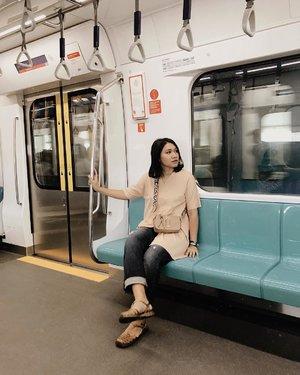 Finally we taste the new MRT in the city!- #clozetteid#celliswearing#ggrep#mrtjakarta