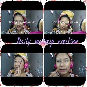 """Hello ... 🙌 Aku baru aja post """" Daily Makeup routine """" di channel youtube aku.. Jangan lupa mampir yaa [ Klik link on my bio ] ☝💟. https://youtu.be/AOKAdFMuOss  #DailyMakeupRoutine  #ClozetteID  #YossiMakeup #Youtuber #BeuatyVlogger"""