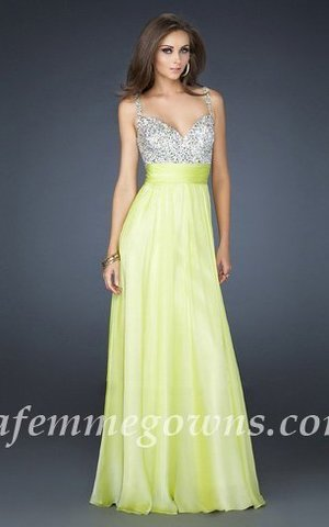 This gorgeous jeweled encrusted Dress Featuring Thin Straps, The beautiful heart-shaped bodice is encrusted with jewels, and a gorgeous chiffon A-line skirt finishes the look. If pink, Light Lime, is not your color, the dress is also available in several other colors. This is just the dress for the girl who wants to look sensational at prom. This is the perfect prom or special occasion dress that will be sure to get you noticed! Ensure your special night will be one you'll never forget.      Size: Standard Size or Custom Made Size Closure: Zipper Details: Jewel Encrusted Bodice, Layered Skirt, A-Line skirt Fabric: Chiffon  Length: Floor Length Neckline: Heart-Shape, Slim Straps Waistline: Empire Waist Color: Light Lime Tag: Sequin, A-line, Thin Straps, Light Lime, Long, Homecoming Dresses, La Femme 16802