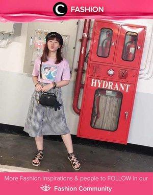 Playful look ala Clozetter @japobs: t-shirt and flowy skirt! Simak Fashion Update ala clozetters lainnya hari ini di Fashion Community. Yuk, share outfit favorit kamu bersama Clozette.