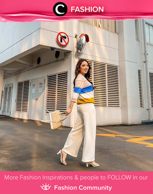 Need some outfit inspiration for a chic look today? Steal Clozette Ambassador @priscaangelina's look with striped top and white culottes. Simak Fashion Update ala clozetters lainnya hari ini di Fashion Community. Yuk, share outfit favorit kamu bersama Clozette.
