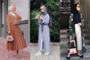 7 OOTD Hijab Simple Gaya Street Style yang Kece, Termasuk Pakai Rok Plisket