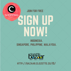 Punya toko online? Ingin dipromosikan via Clozette? Daftar juga di http://bazaar.clozette.co/ID/ . Tokomu bisa di-feature di semua channel social media maupun newsletter Clozette :)