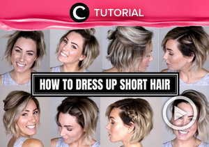 Rambut pendek bukan halangan untuk tetap menata rambut, Clozetters! Intip tutorialnya di: https://bit.ly/2Lnc0K5. Video ini di-share kembali oleh Clozetter @dintjess. Lihat juga tutorial lainnya yang ada di Tutorial Section.