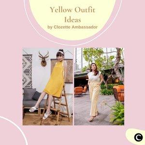 Sambut tahun barumu dengan menggunakan outfit berwarna cerah seperti warna kuning, yuk! Warna kuning ini memberikan kesan yang friendly, joyful & optimistic. Outfit dari Clozette Ambassador ini bisa jadi inspirasi kamu, lho! Simak video berikut, yuk!  📷 @steviiewong @priscaangelina @cellinikamil @tiffanikosh @vicisienna  #ClozetteID #ClozetteIDVideo