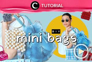Make your own mini bag at home! Check this tutorial: https://bit.ly/3lPRjHq. Video ini di-share kembali oleh Clozetter @ranialda. Intip juga tutorial lainnya di Tutorial Section.