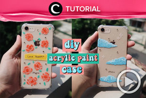 DIY arcrylic paint case yang aesthetic: http://bit.ly/3iAyfvK. Video ini di-share kembali oleh Clozetter @zahirazahra. Lihat juga tutorial lainnya di Tutorial Section.