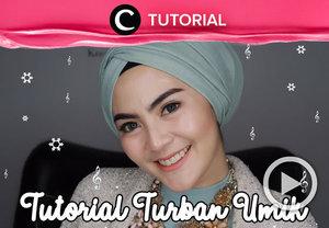 Bergaya dengan turban yuk! Intip tutorialnya di: http://bit.ly/2SvU4SR . Video ini di-share kembali oleh Clozetter @kyriaa. Jangan lupa cek tutorial lainnya di Tutorial Section ya!