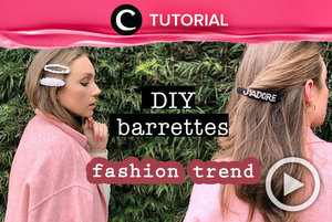 Ingin punya jepit rambut kekinian yang berbeda dari lainnya? Buat sendiri saja, Clozetters! Intip tutorialnya di: http://bit.ly/2UefyV4. Video ini di-share kembali oleh Clozetter @ranialda. Tonton juga tutorial lainnya di Tutorial Section.