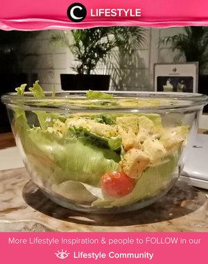 Yumm! Caesar Salad dari Suasana Restaurant ini terlihat segar sekali, ya, Clozetters. Kamu berbuka puasa pakai apa hari ini? Simak Lifestyle Updates ala clozetters lainnya hari ini di Lifestyle Community. Image shared by Clozetter @Onnie. Yuk, share juga momen favoritmu.
