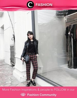 Bring all your inner punk out with biker jacket and tartan pants! Simak Fashion Update ala clozetters lainnya hari ini di Fashion Community. Image shared by Clozetter @MichellaGeorgia. Yuk, share outfit favorit kamu bersama Clozette.