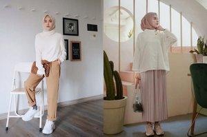 7 OOTD Hijab dan Baju Putih untuk Lebaran Tercantik, Bikin Pangling dan Glowing