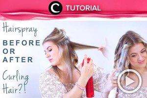 Jangan sampai keliru, penggunaan hair spray juga ada tips dan triknya tersendiri agar hasilnya lebih maksimal, lho. Coba lihat selengkapnya di: https://bit.ly/3yDxvgoVideo ini di-share kembali oleh Clozetter @kamiliasari. Lihat juga tutorial lainnya di Tutorial Section.