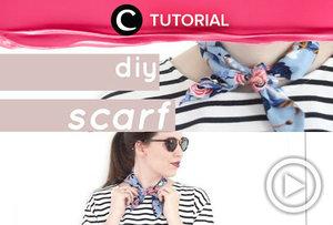 Suka bingung milih motif yang cocok untuk scarf-mu? Beli bahan dan buat sendiri saja! Caranya ada di video ini: http://bit.ly/2FHRdyZ. Video ini di-share kembali oleh Clozetter @dintjess. Cek tutorial lainnya juga ya, di Tutorial Section.
