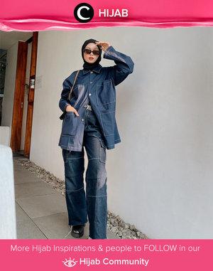 Showing her cool side, Clozette Crew @astrityas was wrapped in denim and black outfit. Simak inspirasi gaya Hijab dari para Clozetters hari ini di Hijab Community. Yuk, share juga gaya hijab andalan kamu.