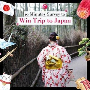 [GIVEAWAY ALERT!]Menangkan sepasang tiket ke Jepang! Bukan hanya itu, ada 10 voucher Traveloka untuk Clozetters yang beruntung, lho. Yuk isi survey 10 menit di sinihttp://bit.ly/SEATravellersSurvey (link di bio).#ClozetteID