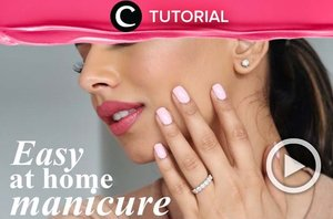 Sementara belum bisa pergi ke nail salon, coba lakukan manicure sendiri di rumah, yuk. Lihat tips dan triknya di: https://bit.ly/369BuVz. Video ini di-share kembali oleh Clozetter @salsawibowo. Lihat juga tutorial lainnya di Tutorial Section.