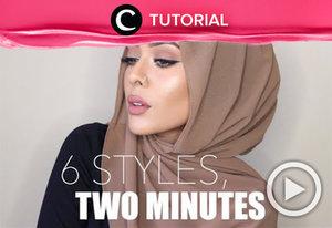 Simak 6 gaya hijab dengan hijab sifon yang bisa kamu buat dalam waktu 2 menit http://bit.ly/2BbGJDu. Video ini di-share kembali oleh Clozetter: @saniaalatas . Cek Tutorial Updates lainnya pada Tutorial Section.