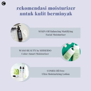 Banyak dari pemilik kulit wajah berminyak yang beranggapan bahwa menggunakan moisturizer merupakan hal yang kurang perlu dan justru akan membuat wajah makin berminyak. Eits! Padahal anggapan itu kurang tepat, lho, Clozetters🤔 faktanya, moisturizer justru akan membantu mengontrol minyak alami kulit wajah, karena wajah sudah merasa cukup lembap dari efek moisturizer yang digunakan. Psst.... untuk kamu pemilik kulit wajah berminyak yang sedang mencari pelembap wajah, nih, Clozette kasih tiga rekomendasinya! . 📷 @sustainablebeautyid @wasobeauty @cosrx_indonesia #ClozetteID #ClozetteIDCoolJapa #ClozetteXCoolJapan