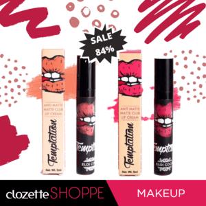 """""""Unik"""" adalah salah satu kata yang bisa menggambarkan Eloi Coco Temptation Anti Matte Club Lip Matte. Lip Cream dengan hasil matte dan tahan lama, serta packaging yang menggemaskan ini sedang SALE, lho! Hanya di #ClozetteShoppe kamu bisa mendapatkan 2pcs Eloi Coco Temptation Anti Matte Club Lip Matte seharga Rp.75.000,-. Yuk belanja sekarang sebelum kehabisan! http://bit.ly/2QGkYG7"""