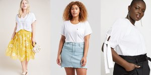 17 White T-Shirts You'll Want to Live in All Dang Summer