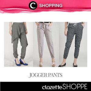 Jogger pants bisa menjadi pilihan kamu untuk tampil modis dengan outfit yang simpel. http://bit.ly/1WM1n1j - Model jogger pants saat ini semakin banyak, salah satunya adalah memiliki layer seperti rok.  Cek koleksi #ClozetteSHOPPE untuk belanja jogger pants yang sesuai dengan gayamu.