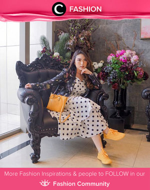 When vintage meets casual. We love how Clozette Ambassador @priscaangelina styled her polkadots dress with leather jacket and yellow sneakers. Simak Fashion Update ala clozetters lainnya hari ini di Fashion Community. Yuk, share outfit favorit kamu bersama Clozette.
