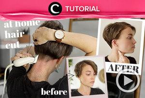 Bagi kamu yang berambut pendek, intip cara memotong rambut sendiri di rumah berikut: https://bit.ly/3uYNRyk. Video ini di-share kembali oleh Clozetter @kamiliasari. Lihat juga tutorial lainnya di Tutorial Section.