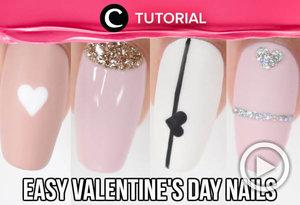 Belum ada ide nail art untuk mempercantik penampilanmu di Valentine's Day nanti? Coba intip inspirasinya di: http://bit.ly/2GKuhyG. Video ini di-share kembali oleh Clozetter @dintjess. Lihat juga tutorial lainnya di Tutorial Section.