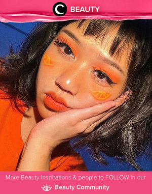 We love this fresh orange look by Clozetter @cclaracr! Simak Beauty Update ala clozetters lainnya hari ini di Beauty Community. Yuk, share juga beauty look-mu bersama Clozette.