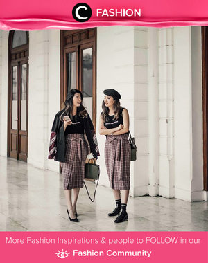 The good girl vs the bad girl: dress up in choco tartan skirt. Simak Fashion Update ala clozetters lainnya hari ini di Fashion Community. Image shared by Clozette Ambassador: @wulanwu. Yuk, share outfit favorit kamu bersama Clozette.