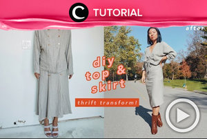 Transform your two-piece into new set like this: https://bit.ly/3nz11zq. Video ini di-share kembali oleh Clozetter @dintjess. Lihat juga tutorial lainnya di Tutorial Section.