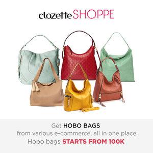 Hobo handbags offer slouchy yet sophisticated style perfect for every season. Pilih hobo bags saat bepergian dengan banyak barang, Clozetters. Belanja tas hobo MULAI 100K dari berbagai e-commerce site via #ClozetteSHOPPE! http://bit.ly/1NSnttL