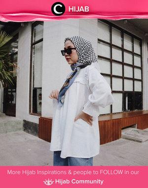 White shirt never fails! Image shared by Clozetter @nabilaaz. Simak inspirasi gaya Hijab dari para Clozetters hari ini di Hijab Community. Yuk, share juga gaya hijab andalan kamu.
