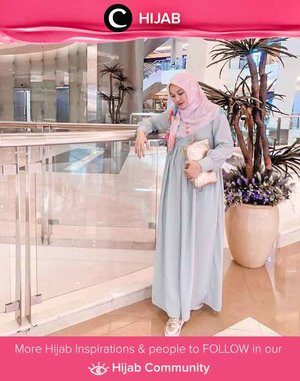 Soft hijab look by Clozetter @5andranova. Happy Monday, Clozetters! Don't forget to share your hijab outfit of the day with Clozette on Hijab Community!