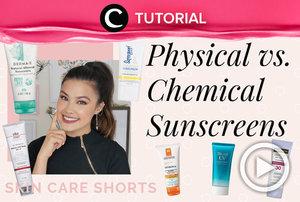 Which one do you need; phyisical or chemical sunscreen? See the difference here: https://bit.ly/38ElAFi. Video ini di-share kembali oleh Clozetter @juliahadi. Lihat juga tutorial lainnya di Tutorial Section.