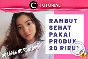 Sederhana dan terjangkau, kamu bisa meniru cara ini untuk merawat rambut: http://bit.ly/37lYCiE. Video ini di-share kembali oleh Clozetter @kyriaa. Intip juga tutorial lainnya di Tutorial Section.