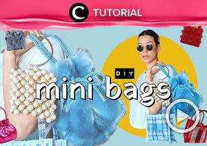 Calling all mini bag lovers! You can now make your own mini bag with this video: https://bit.ly/2DEaByH. Video ini di-share kembali oleh Clozetter @ranialda. Lihat juga tutorial lainnya yang ada di Tutorial Section.