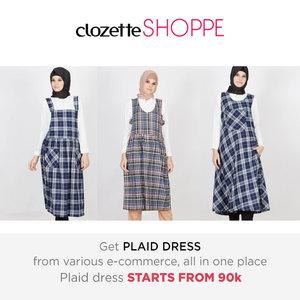 Plaid dress never go-out-of-style! Belanja plaid dress favorit MULAI 90 ribu dari berbagai ecommerce site Indonesia via #ClozetteSHOPPE!http://bit.ly/28XqewS