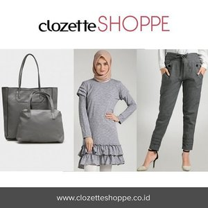 Hijabers coba tampilan monochrome yuk dengan outfit shades of grey. Di #ClozetteSHOPPE kamu bisa belanja aneka produk fashion dengan nuansa abu-abu. Nuansa abu cocok kamu yang bergaya boyish maupun feminin. Yuk belanja!:D http://bit.ly/greyhijab . . . #hijabers #hotd #greyoutfit #greyhijab #ClozetteID #onlinestore #outfithijabers