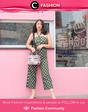 Polka-dot jumpsuit from Style Moda made Clozette Ambassador @andreahamdan looked slimmer and taller in an instant! Simak Fashion Update ala clozetters lainnya hari ini di Fashion Community. Yuk, share outfit favorit kamu bersama Clozette.