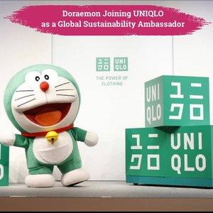 Salah satu brand asal Jepang, UNIQLO kali ini sedang fokus untuk kampanye #uniqlosuistainability dan menggandeng kartun kesayangan yang berasal dari Jepang juga, Doraemon sebagai Global Sustainability Ambassador😍  Doraemon yang identik dengan warna biru muda, kini penampilannya menjadi warna hijau setelah dinobatkan menjadi Global Ambassador💚 Doraemon dianggap memiliki kesamaan dengan Brand Uniqlo, karena akan membantu menciptakan masa depan yang lebih baik bagi dunia dengan membawakan brand sustainability initiatives dengan cara yang menyenangkan dan lebih mudah dimengerti.  📷 @sudsapda  #ClozetteID #ClozetteIDCoolJapan #ClozetteXCoolJapan
