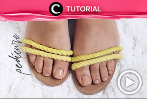 Follow this pedicure tutorial for soft and smooth feet: http://bit.ly/2uJR0IS. Ps: you can do it at home! Video ini di-share kembali oleh Clozetter @juliahadi. Lihat juga tutorial lainnya di Tutorial Section.