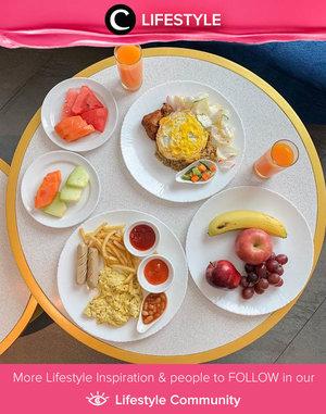 Yummy staycation breakfast! Image shared by Clozette Ambassador @steviiewong. Simak Lifestyle Update ala clozetters lainnya hari ini di Lifestyle Community. Yuk, share momen favoritmu bersama Clozette.