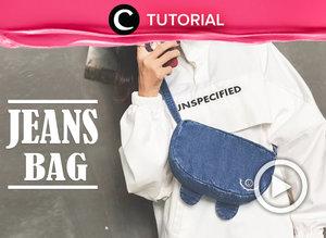 Punya celana Jeans yang sudah tak terpakai? Eits, jangan dulu membuangnya, Clozetters. Kamu bisa menyulapnya menjadi waistbag unik seperti ini. Lihat tutorialnya di: https://bit.ly/30HMw1a. Video ini di-share kembali oleh Clozetter @ranialda. Lihat juga tutorial lainnya yang ada di Tutorial Section.